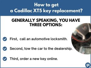 How to get a Cadillac XT5 replacement key