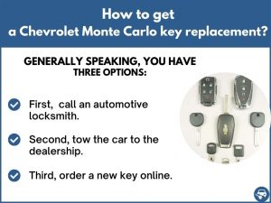 How to get a Chevrolet Monte Carlo replacement key