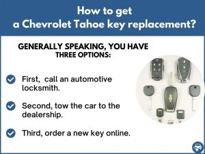 How to get a Chevrolet Tahoe replacement key