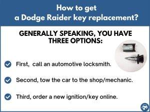 How to get a Dodge Raider replacement key