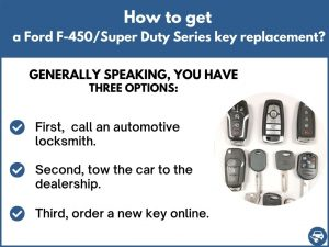 How to get a Ford F-450/Super Duty Series replacement key