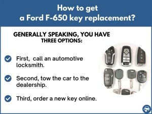 How to get a Ford F-650 replacement key