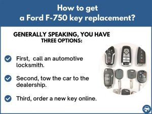 How to get a Ford F-750 replacement key