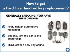 How to get a Ford Five Hundred replacement key