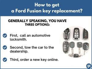 How to get a Ford Fusion replacement key