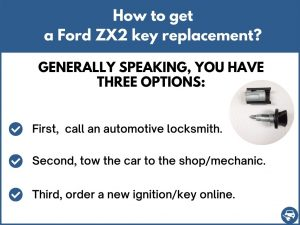 How to get a Ford ZX2 replacement key