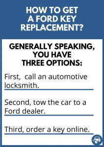 How to get a Ford key replacement