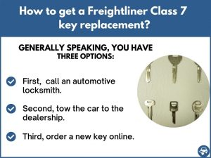 How to get a Freightliner Class 7 replacement key