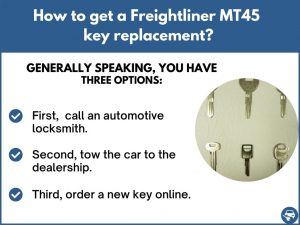 How to get a Freightliner MT45 replacement key