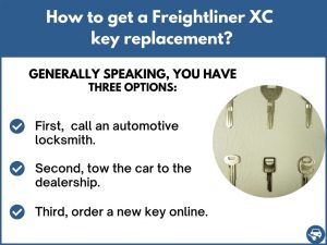 How to get a Freightliner XC replacement key