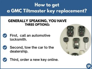 How to get a GMC Tiltmaster replacement key