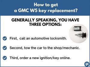How to get a GMC W5 replacement key