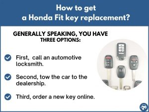 How to get a Honda Fit replacement key
