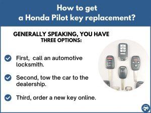 How to get a Honda Pilot replacement key