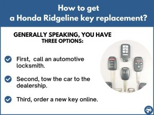 How to get a Honda Ridgeline replacement key
