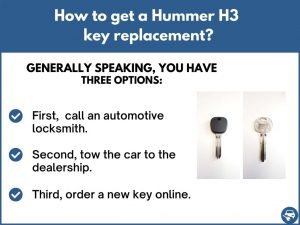 How to get a Hummer H3 replacement key