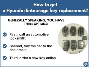 How to get a Hyundai Entourage replacement key