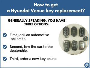 How to get a Hyundai Venue replacement key