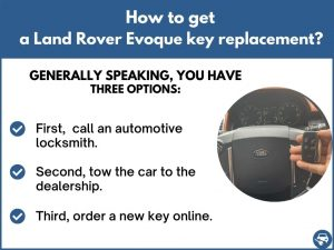 How to get a Land Rover Evoque replacement key