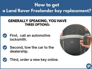 How to get a Land Rover Freelander replacement key
