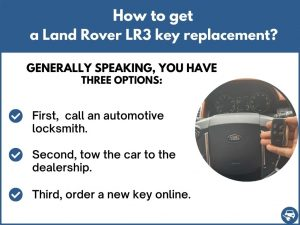 How to get a Land Rover LR3 replacement key