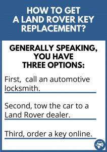 How to get a Land Rover key replacement