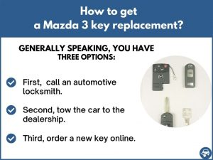 How to get a Mazda 3 replacement key