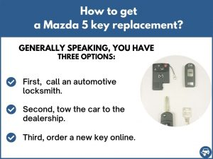How to get a Mazda 5 replacement key