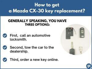 How to get a Mazda CX-30 replacement key
