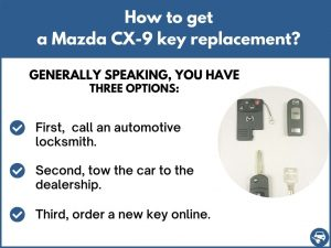 How to get a Mazda CX-9 replacement key