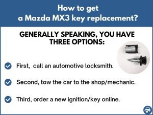 How to get a Mazda MX3 replacement key