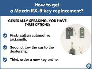How to get a Mazda RX-8 replacement key