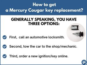 How to get a Mercury Cougar replacement key