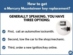 How to get a Mercury Mountaineer replacement key