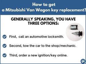 How to get a Mitsubishi Van Wagon replacement key