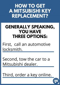 How to get a Mitsubishi key replacement