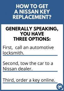 How to get a Nissan key replacement