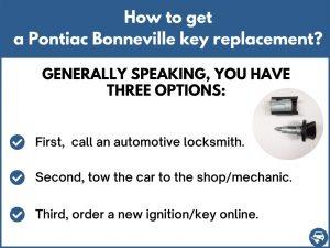 How to get a Pontiac Bonneville replacement key