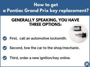 How to get a Pontiac Grand Prix replacement key