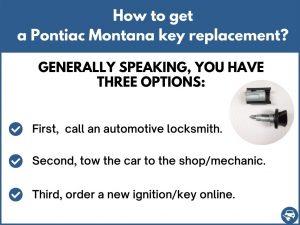 How to get a Pontiac Montana replacement key