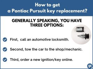 How to get a Pontiac Pursuit replacement key