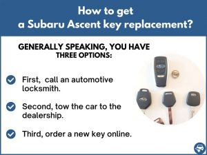 How to get a Subaru Ascent replacement key