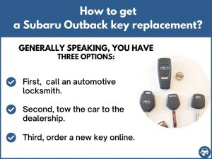 How to get a Subaru Outback replacement key