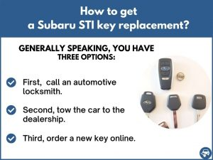 How to get a Subaru STI replacement key