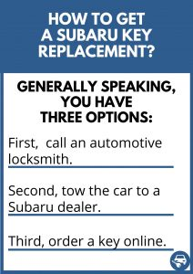 How to get a Subaru key replacement