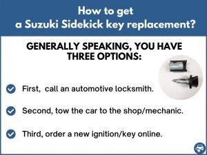 How to get a Suzuki Sidekick replacement key