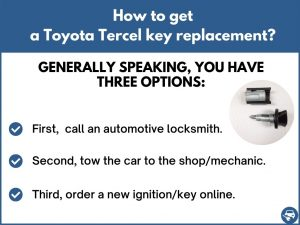 How to get a Toyota Tercel replacement key