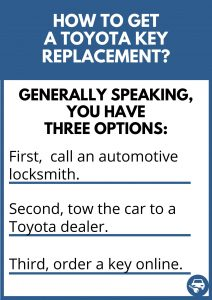 How to get a Toyota key replacement