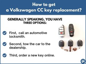 How to get a Volkswagen CC replacement key