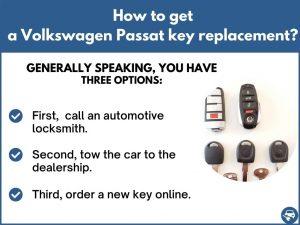 How to get a Volkswagen Passat replacement key